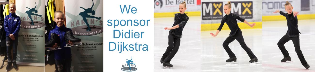 Karins Schaatssport sponsort Didier Dijkstra