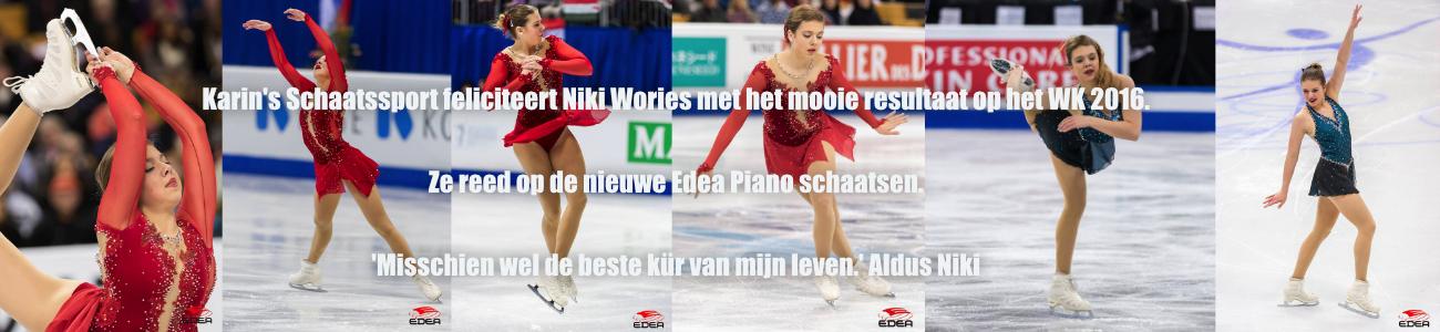 Niki Wories op edea piano bij WK 2016